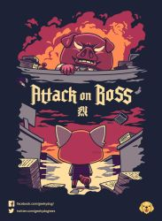 Attack on Boss // Vote it on Qwertee!! by Geekydog