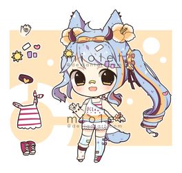 Closed: Summer Cacteen Adopt by miolet