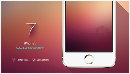 iPhone 5 /  iOS 7 / Parallax background by walkofshame