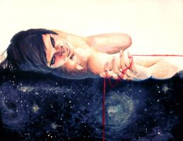 Portrait of A Dying Atheist by xdisenchantedx92