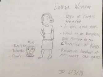 CASN character sheet: Emma Weaver by LegendWeaver25