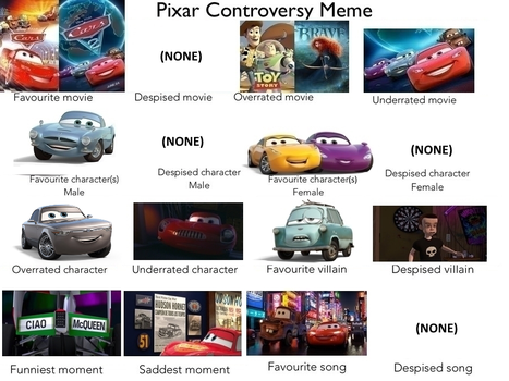 Pixar Controversy Meme by AgentSandraCartrip