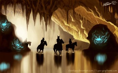 Entrance of the crystal cave by ClaireLyxa
