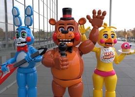 Band at local store (Cycles Toy Animatronics) by MegalexMaster