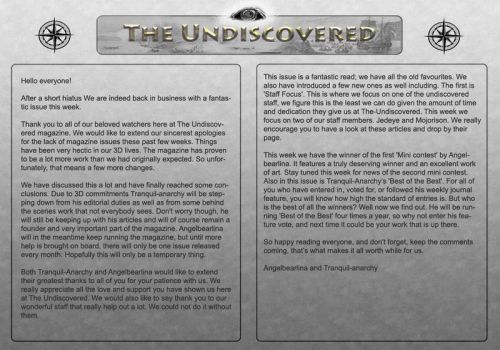 Issue 5- Front Page by The-Undiscovered