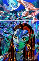 Stained Glass Window Neytiri by Art-Brother