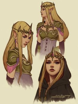 Princess Zelda Sketches by Zolaida