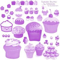Cupcake Brushes by fartoolate