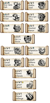 FFCC: All Dungeon Header Banners by RubyDragonCat