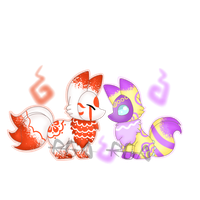 Redrawn Draw To Adopt Slime Foxes (OPEN) by RandomGatcha-Adopts