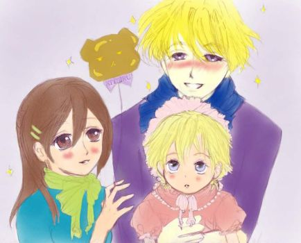 Haruhi's Family Senario 1 Colored by Kiera-sama