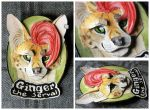 Commissions: 3D - Portrait - Ginger the Serval by SaQe
