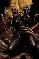 hellboy - colored version by liteboxxx