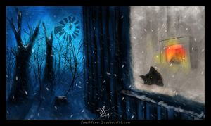 A cat in woods by gimildenn