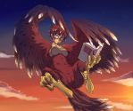 Harpy Reading by gamera1985