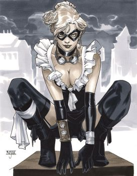 Steampunk BlackCat - LSCC 2013 Pre-Show Commission by MahmudAsrar