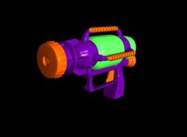 3D Water Gun by GwillaTheDragon