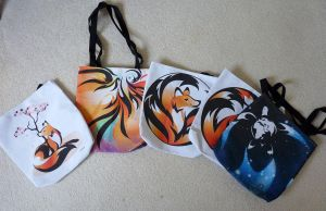 Kitsune Tote Bags, Yay! by RHPotter