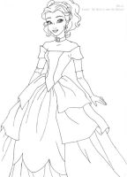 Belle deluxe gown lineart by LadyAmber