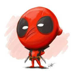 Chibi Deadpool by Iddstar