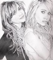 ashley and mary-kate olsen by summergurl
