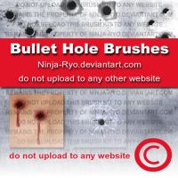 PS6 BRUSHES - Bullet Holes by Ninja-Ryo