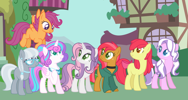 Original Cutie Mark Crusaders - Grown up! by Silvercloud36