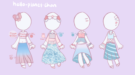 [outfit set] - cthonicsquid [9] by hello-planet-chan