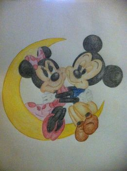 Mickey and Minnie Mouse by elvaholt