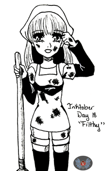 Inktober Day 18- Filthy by vicfania8855