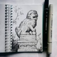 Instaart -  Guardian Lion by Candra