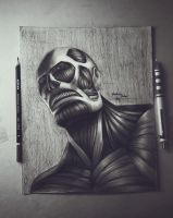 colossal titan / attack on titan by Hzaherart