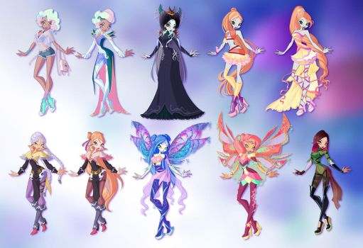 Commissions: Designs Pack Winx style by fantazyme