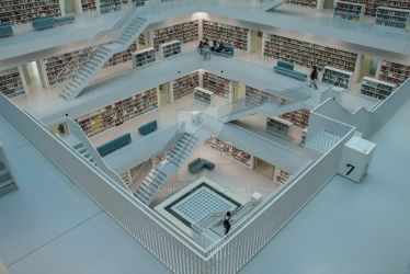 Library in Stuttgart Part 5 by BlackFoggy