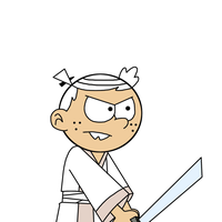 Lincoln Loud as Samurai Jack by MarcosPower1996