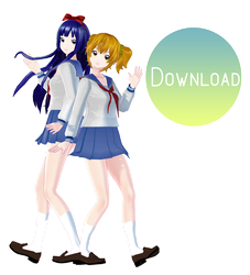 MMD Pop Team Epic .:DOWNLOAD:. by MochiMoo-Desu