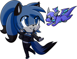 Dez and Skoric :cuteness: by BluethornWolf