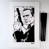 Inktober Day 23 - James Bond by D-MAC