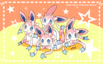 So many Sylveons~ by ChikoritaMoon