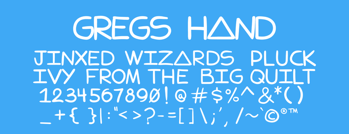 Gregs Hand (Free Font Download) by xneetoh