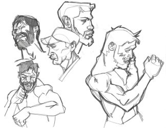 Boxing sketches  by RemiMcCrea