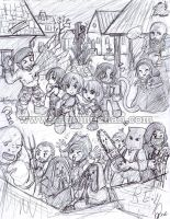 RE4: Chibi Mess by I-heart-Link