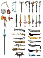 Sacred Seasons 2 Weapons Sheet by Kyomu