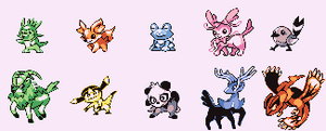 Pokemon X and Y demake sprites