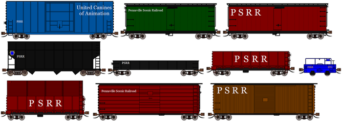 Pennsville Scenic classic freight cars 3 by RyanBrony765
