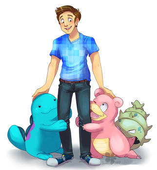 Jimjam and his Pokeman by sweet-salt