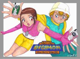 Digimon: Kari and TK -colored by 6-5and5-11