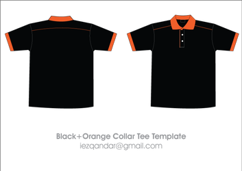 Collar T-shirt Template by iEzQaNDaR