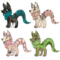 Monster Doggies batch 1 SOLD by Angels-Adoptables