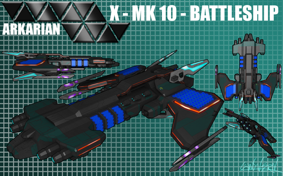 Arkarian Battleship MK10 by Gwyvern